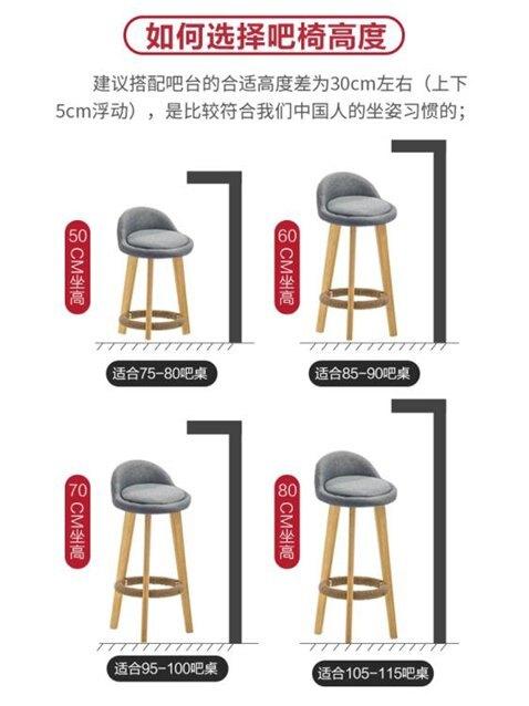 吧檯椅 實木吧臺椅現代簡約高腳凳家用靠背椅吧凳酒吧椅奶茶店椅前臺椅子 LX 秋冬新品特惠