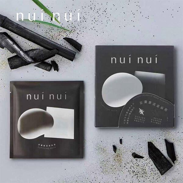 nui nui 妞妞 面膜單片1入 - 炭纖維清潔面膜黑