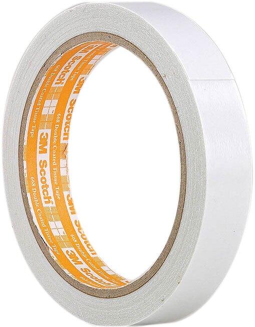 【3M】668 Scotch 膠帶黏貼系列(24mm*15y)雙面棉紙膠帶/ 捲