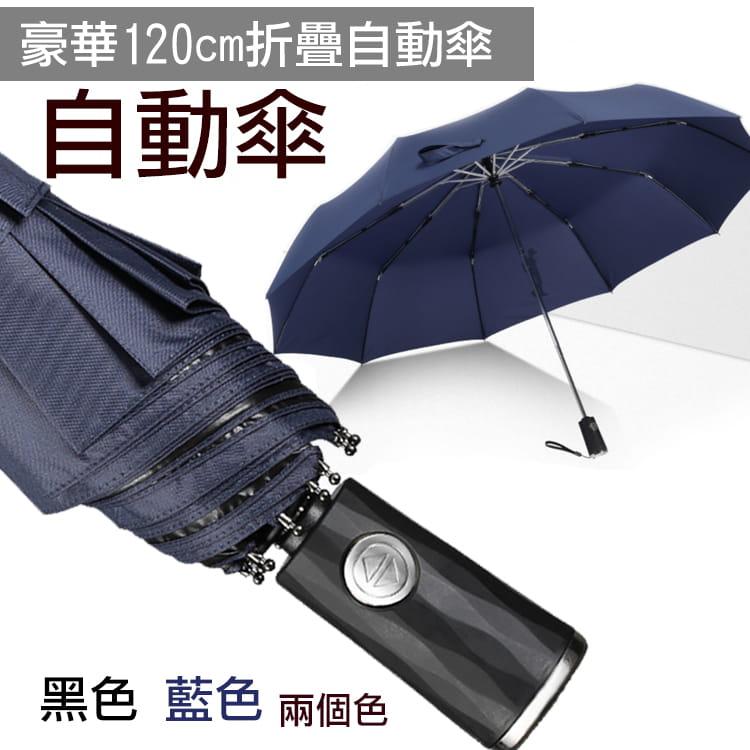 豪華120cm折疊自動傘