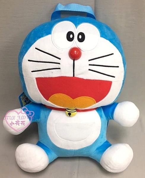 小花花日本精品哆啦a夢 藍色 立體造型 坐姿 絨毛 後背包 出門必備 造型可愛 容量大 10028902