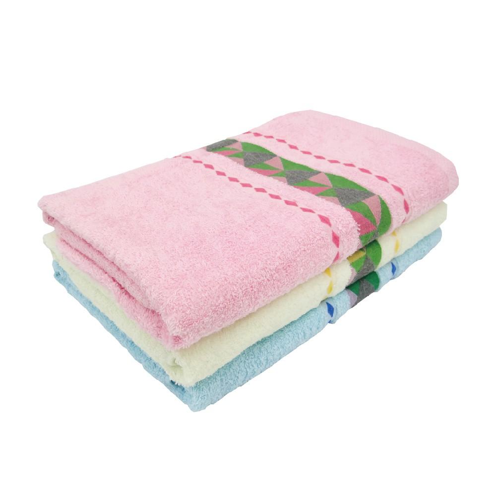 【B.V.D】BVD彩鍛浴巾-幾何(共3色) 70x140cm 100%棉 台灣製造