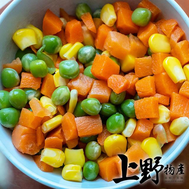 【上野物產】冷凍蔬食 四色豆(500g±10%/包)x1包