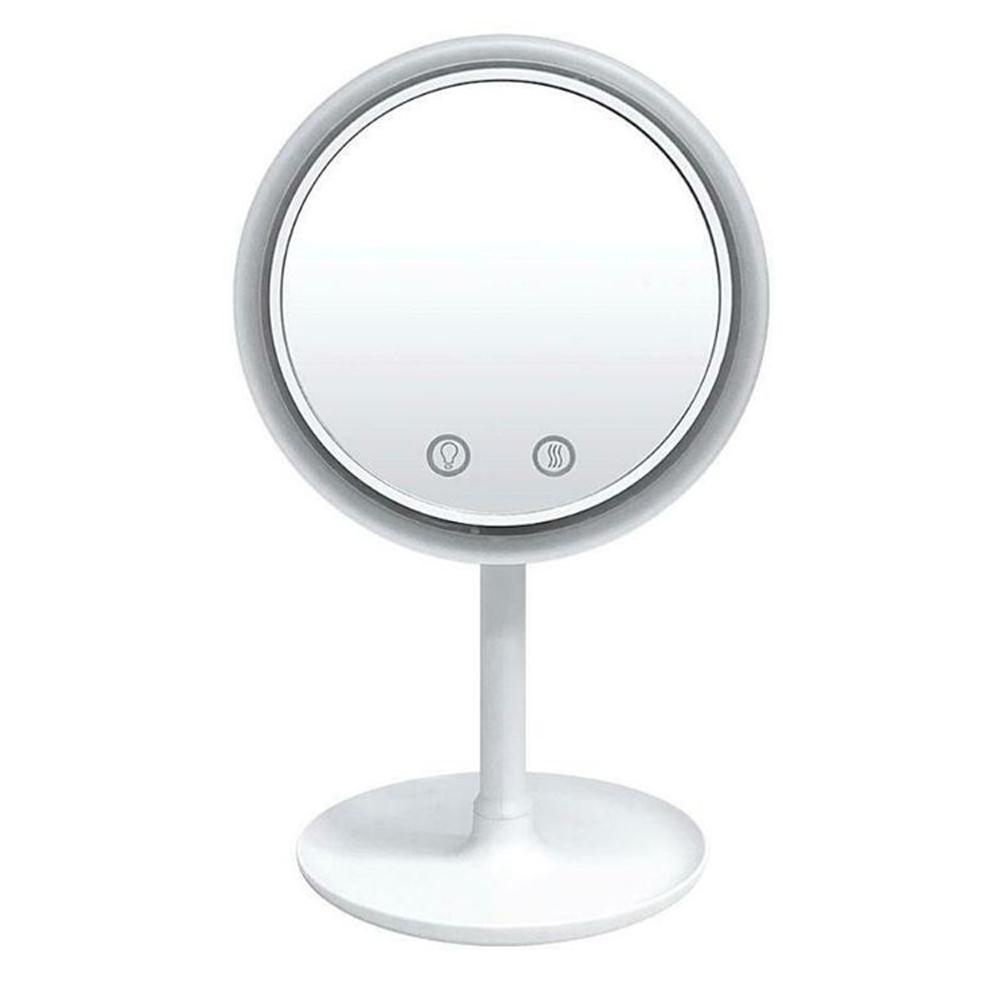 iSFun 多功能三合一 USB風扇放大調光360度化妝鏡
