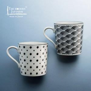 【有種創意】日本美濃燒 - 小紋馬克對杯組 (2件式)