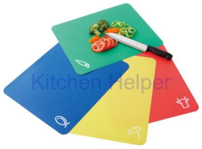 《卡樂登》廚房幫手 軟式切菜板/砧板 露營郊遊野餐皆方便 4片組可彎折