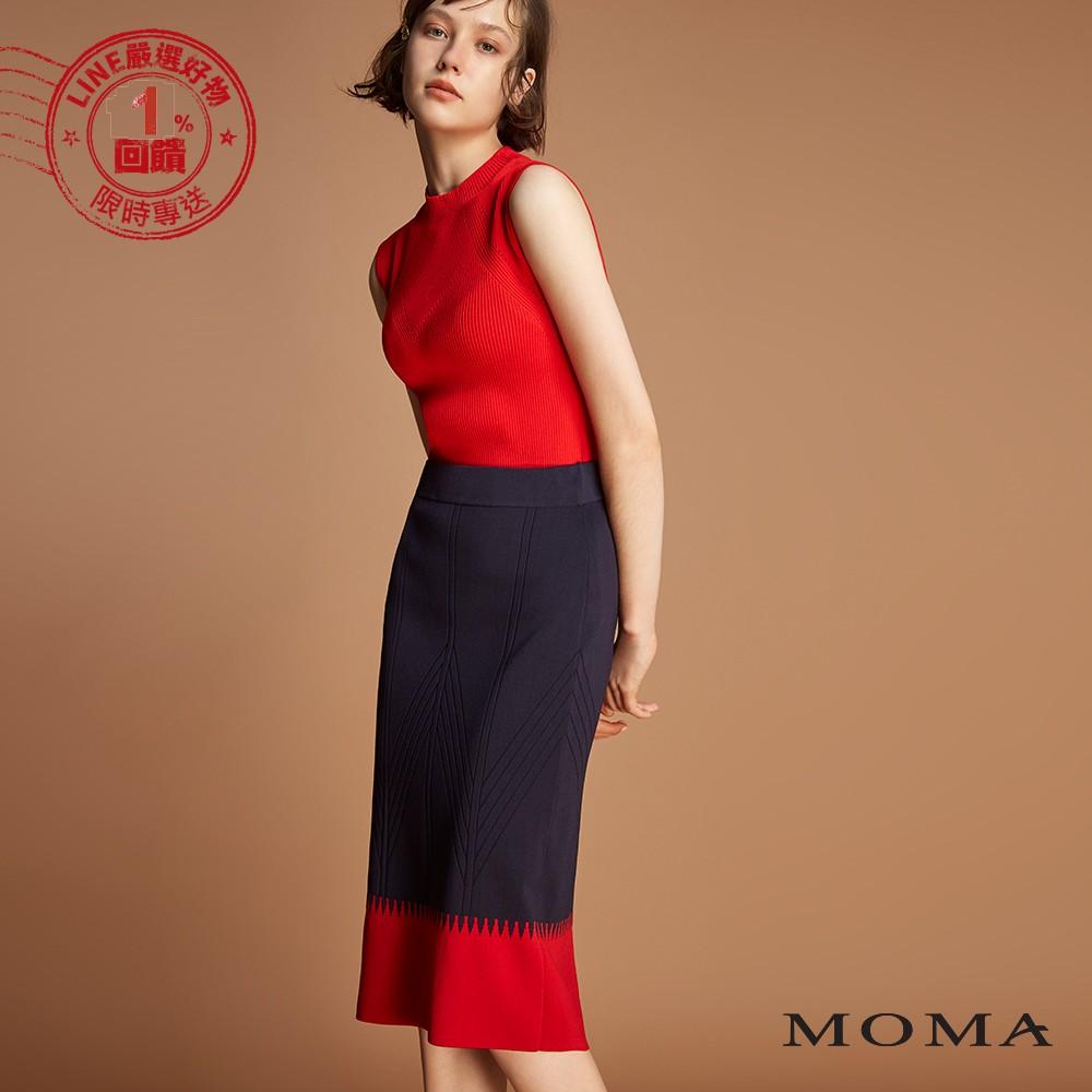 MOMA (92S023)雙色針織裙