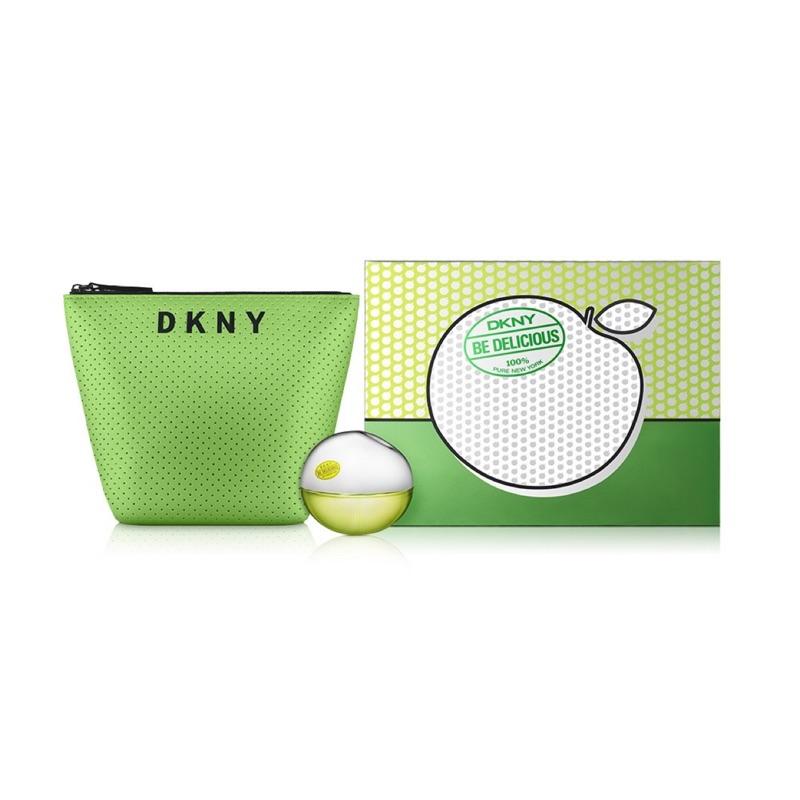 DKNY 青蘋果淡香精30ml禮盒組+化妝包