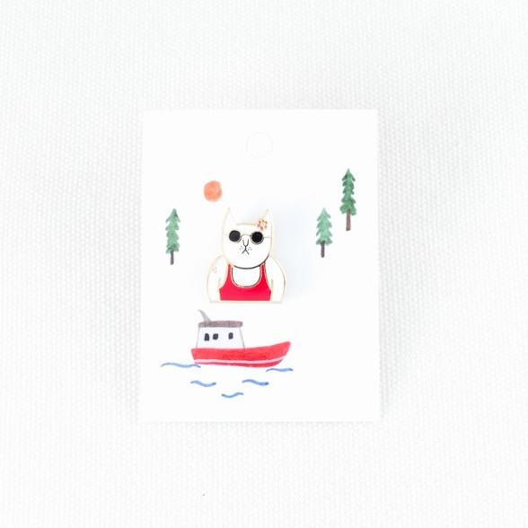 【小徑文化】小徑文化xSoupy舒皮_金屬徽章-比基尼辣貓 bikini cool ( MTB-SP025 ),新光