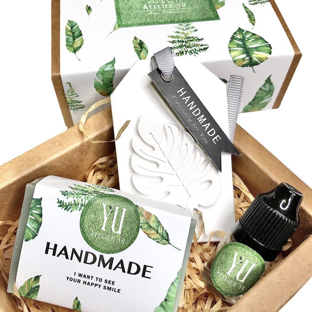 Atelier YU 文青葉子香氛禮盒 手工皂 擴香石 擴香磚 香氛禮盒