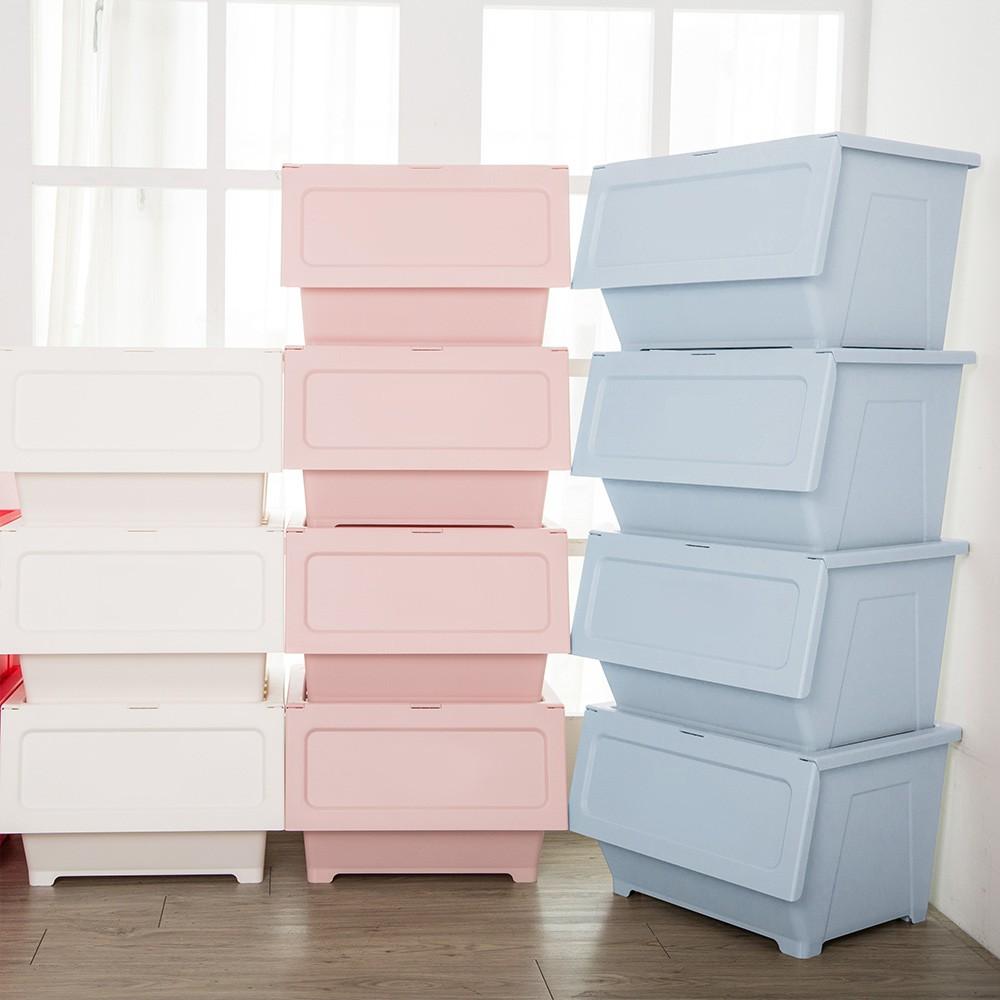 MIT粉嫩色系 掀蓋式 防塵收納箱(40L)正版授權 衣物整理收納箱 整理箱 換季收納 置物箱 收納櫃5ip8