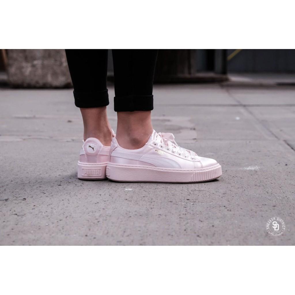 KAI 海外代購 PUMA BASKET PLATFORM TWEEN 二代鬆糕絲綢粉 女神必備踩街鞋