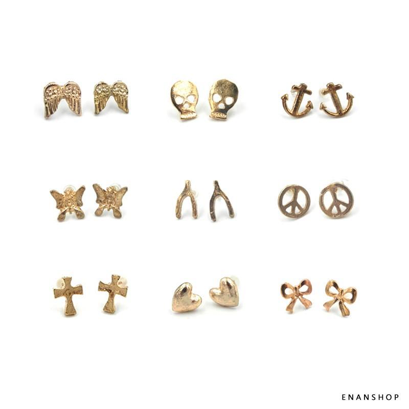 許願耳環 幸運耳釘 米莎巴頓同款 多款符號耳環 惡南宅急店【0128D】