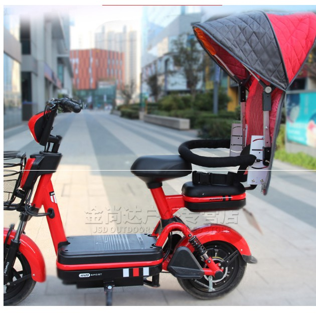 #熱賣款#電動車自行車兒童座椅支架後置雨棚支架無需座椅安裝雨棚的支架便捷、安全、