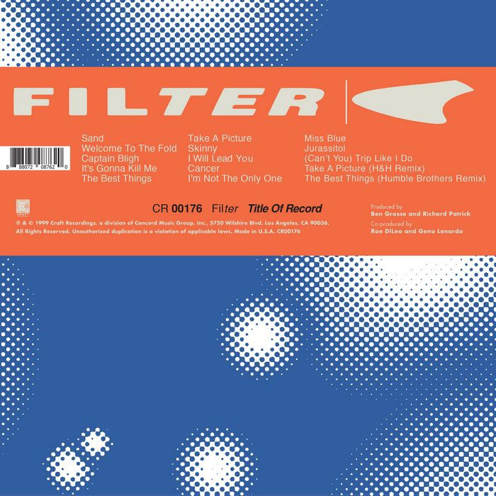 過濾器樂團 20周年紀念專輯 Filter Title of Record Remastered CR00177