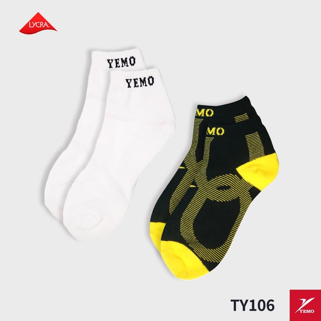 YEMO益茂 毛巾底運動厚底踝襪 TY106