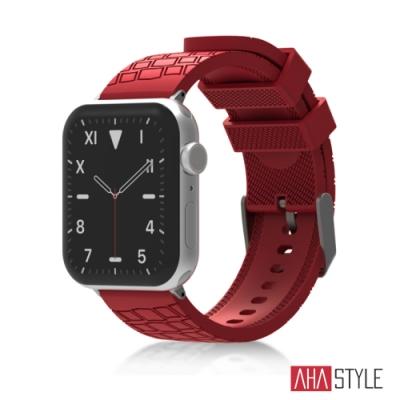AHAStyle Apple Watch 專用運動矽膠錶帶 越野款 (42/44mm) 紅色