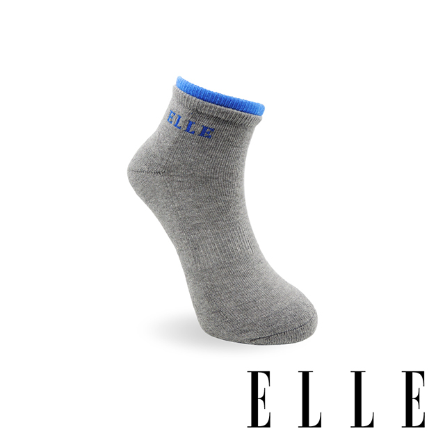 【ELLE】 1/2雙層足弓加壓運動襪-中灰