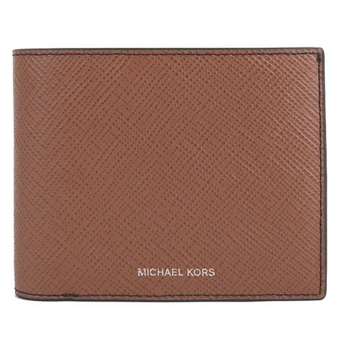 MICHAEL KORS- 雙折8卡短夾/附活動式名片夾(駝)