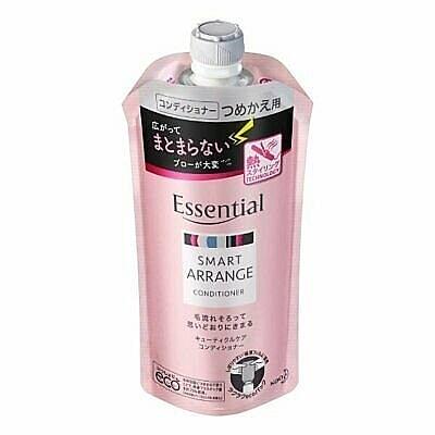 日本【花王】Essential 瞬效亮澤去毛躁潤髮乳 補充包340ml