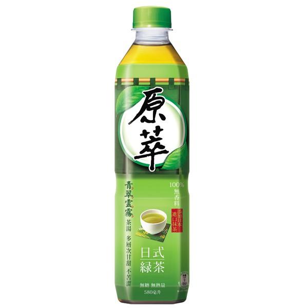 原萃日式綠茶580ml(4入)【康是美】