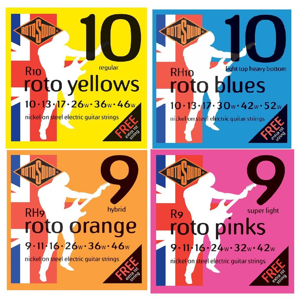 (贈第一弦) 英國 Rotosound R9/R10/RH9/RH10 09-42/10-46 電 吉他 琴 弦 鎳弦