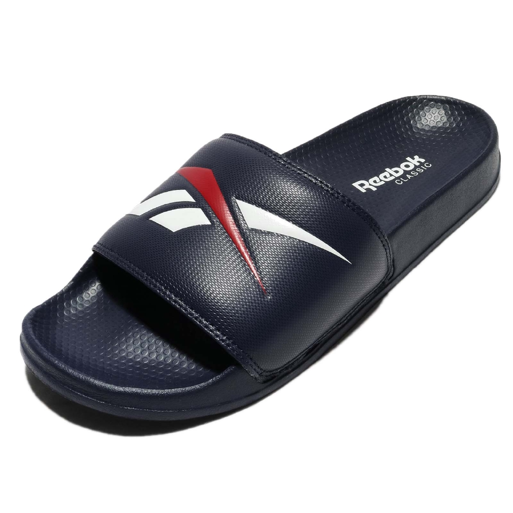 Reebok 拖鞋 Classic Slide 深藍 紅 白 Logo 男鞋 女鞋 基本款 【ACS】 CN0211