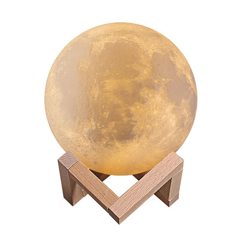 3D月球燈月亮燈創意夢幻網紅小夜燈飾少女心ins睡眠臥室床頭臺燈