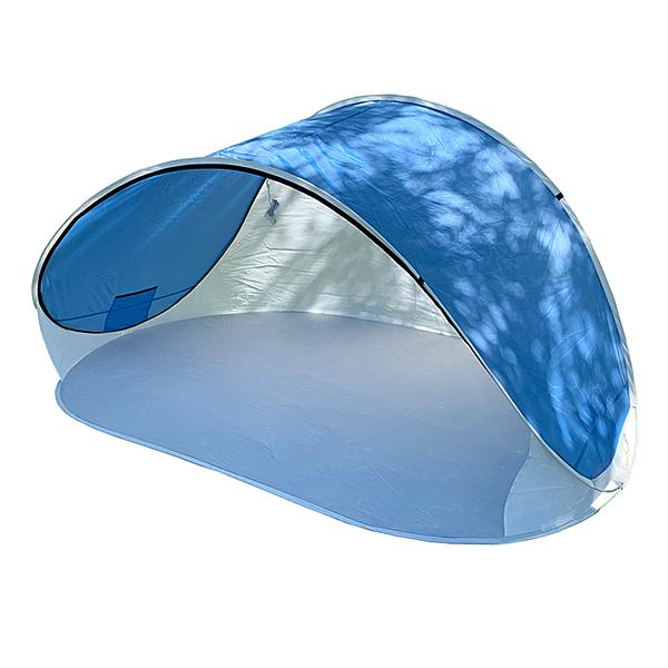 野餐遮陽篷 SS20-01 露營.野營.登山.環島.戶外帳.彈開式沙灘帳棚.一秒搭設.遮陽帳蓬 (顏色隨機出貨)