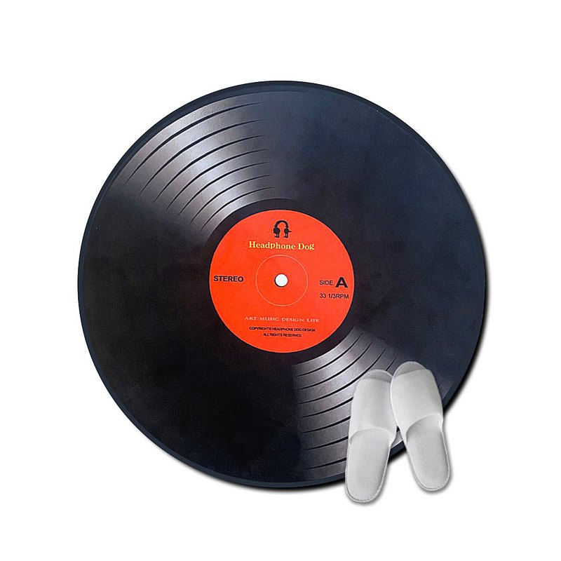 黑膠唱片軟毛地墊/地毯 音樂人生日 交換禮物 Vinyl Record
