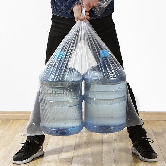 大號家用棉被收納袋(10入-80x110cm)  防潮 防塵 透明 塑料 大整理袋 衣服 搬家 打包袋 玩具 舊衣回收【T037】♚MY COLOR♚