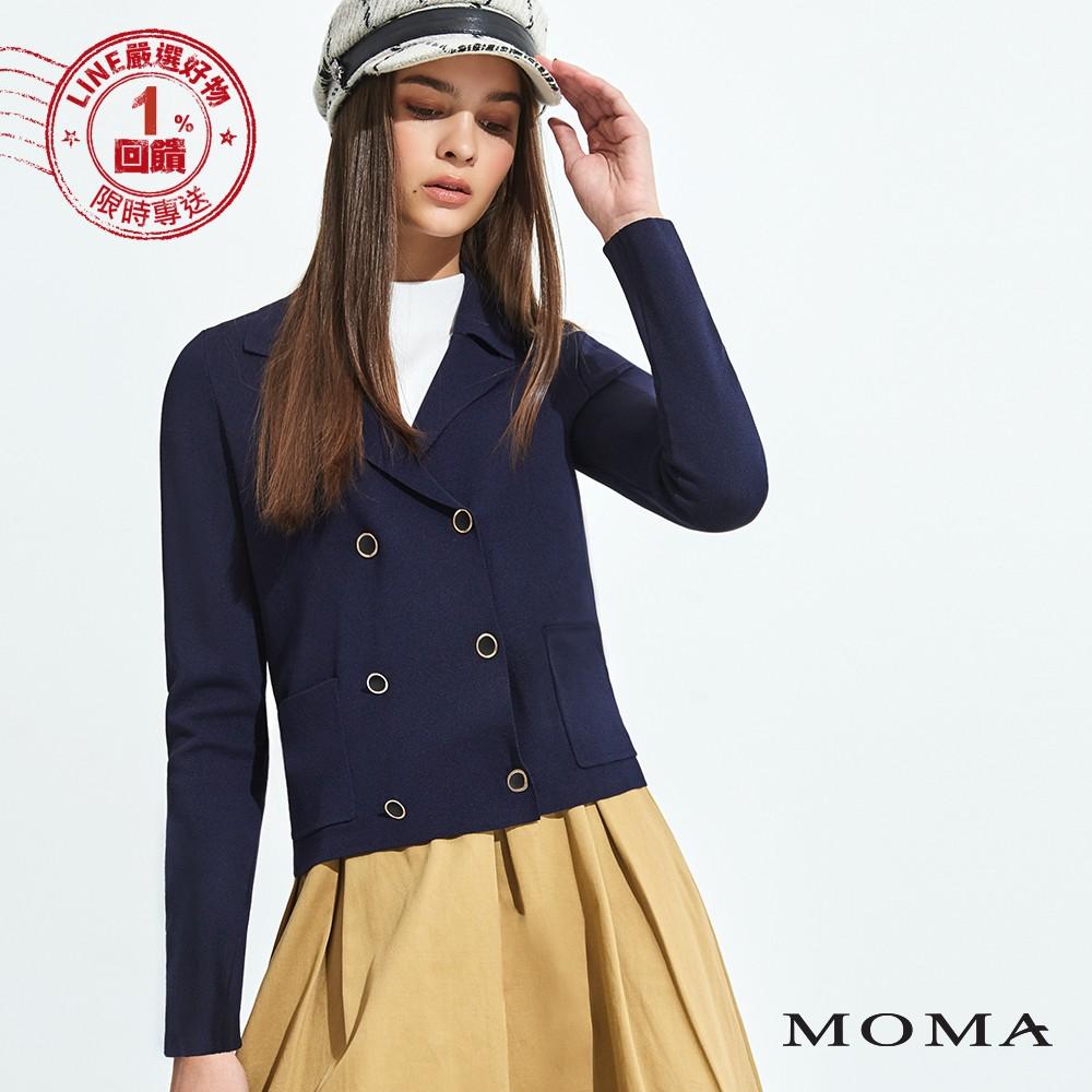 MOMA(92KJ11)雙排扣針織外套