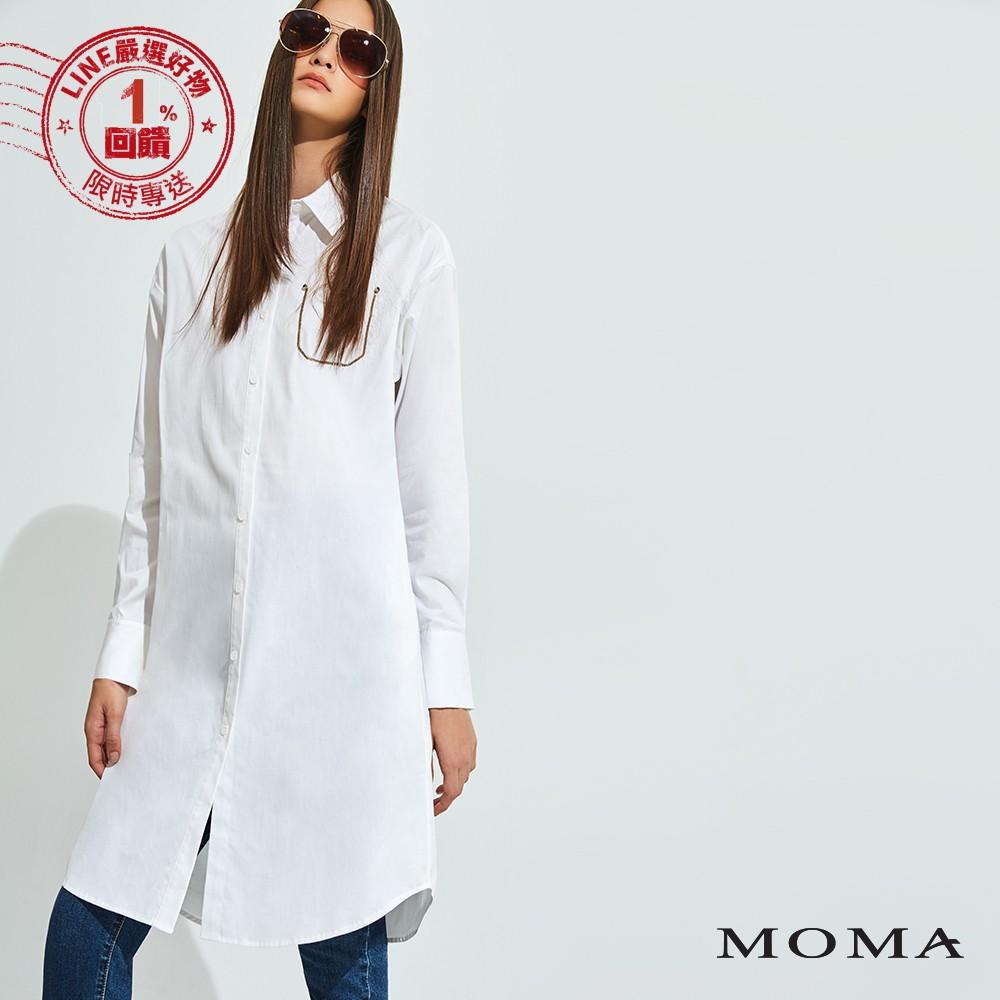 MOMA(92B007)鏈條裝飾口袋長襯衫