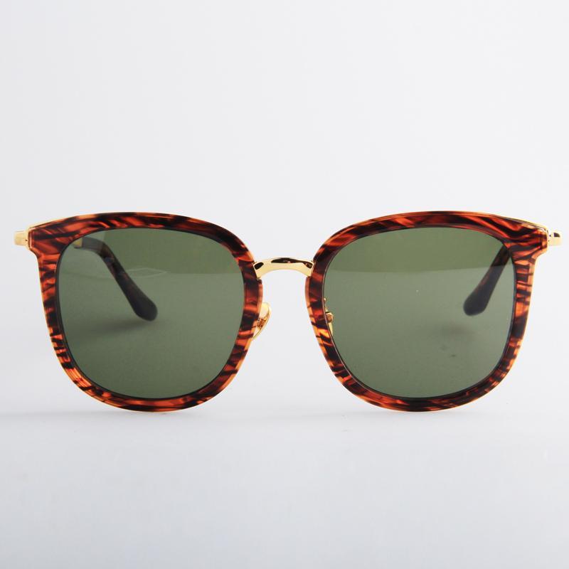 棕石紋(金)方框太陽眼鏡 PPS-KC-4-8G