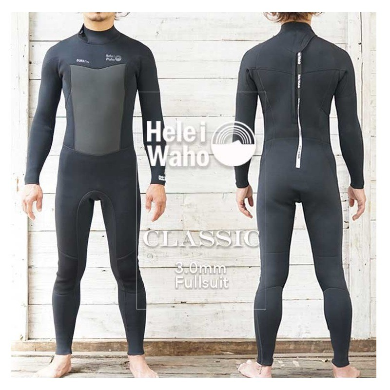 HeleiWaho 3mm 潛水衣 防寒衣 衝浪衣 衝浪 潛水 浮潛 自由潛水 全彈 經典黑M-XLB