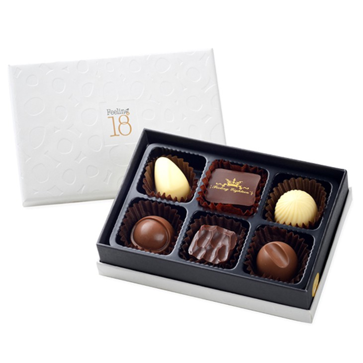 [Feeling18巧克力工房] 藏心禮盒(6入)/隨機挑選六款藏心巧克力