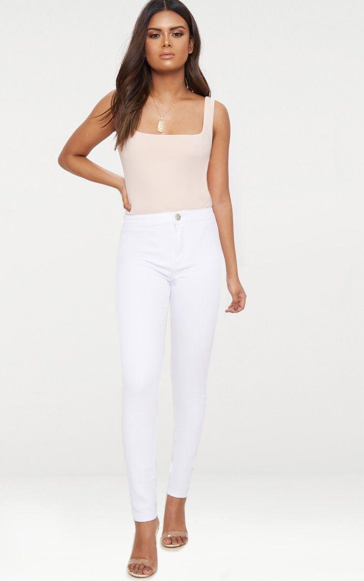 Petite White High Rise Skinny Jeans