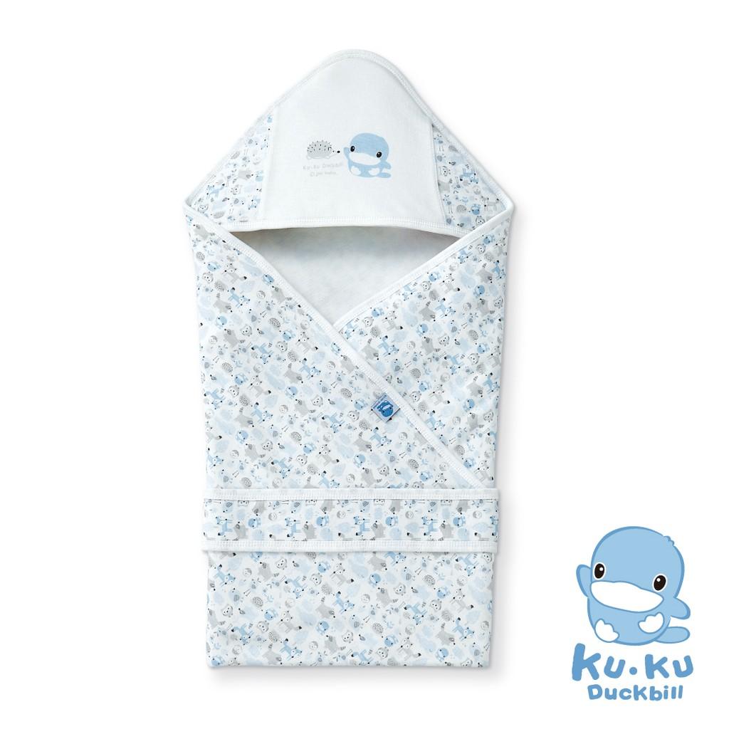 KUKU酷咕鴨竹纖有機棉多功能新生兒抱巾