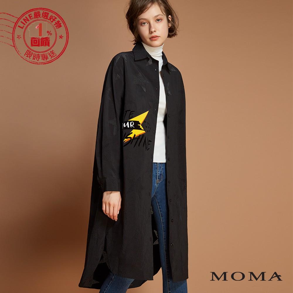 MOMA(92B006)縷空五角星長版襯衫
