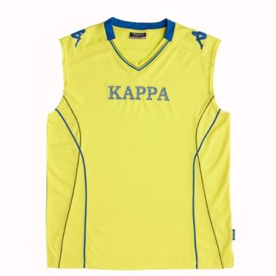KAPPA義大利時尚棈典吸濕排汗型男寬肩背心