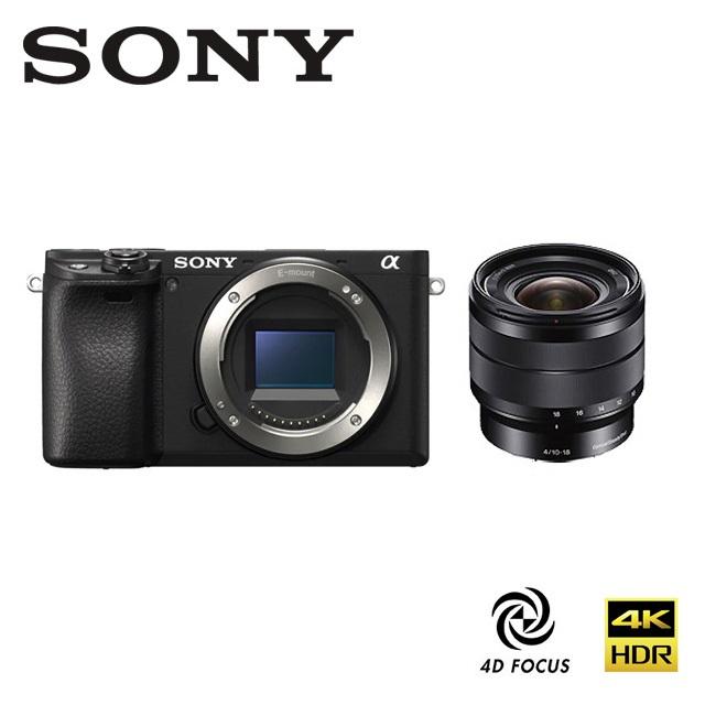SONY A6400 ILCE-6400 + SEL1018 Vlogger 廣角自拍組合 公司貨限量贈電池+64G高速卡+吹球清潔組+保護貼