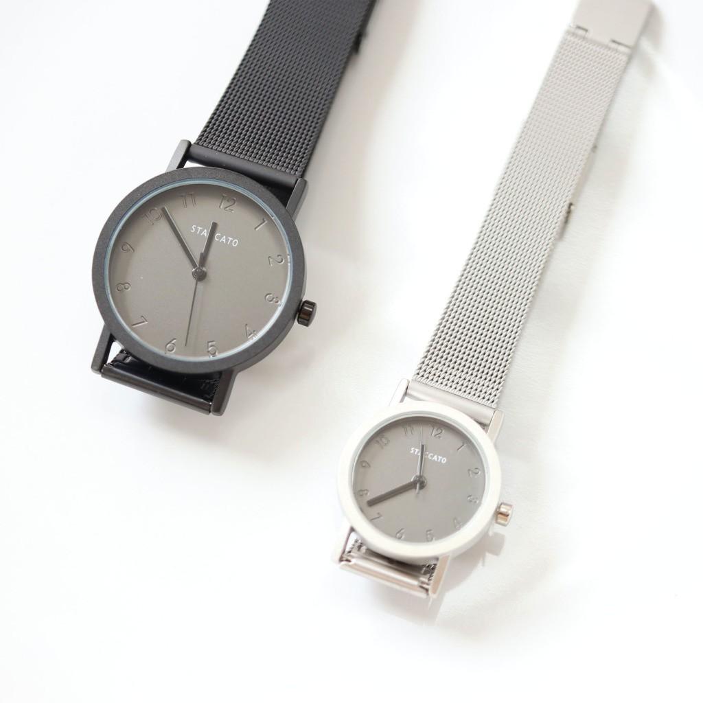 【KELRA】韓國STACCATO 溫柔的守候 情侶鋼錶 2色
