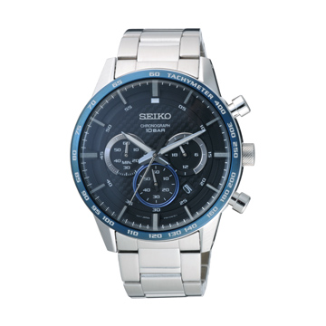 SEIKO 捍衛任務三眼計時腕錶-SSB357P1