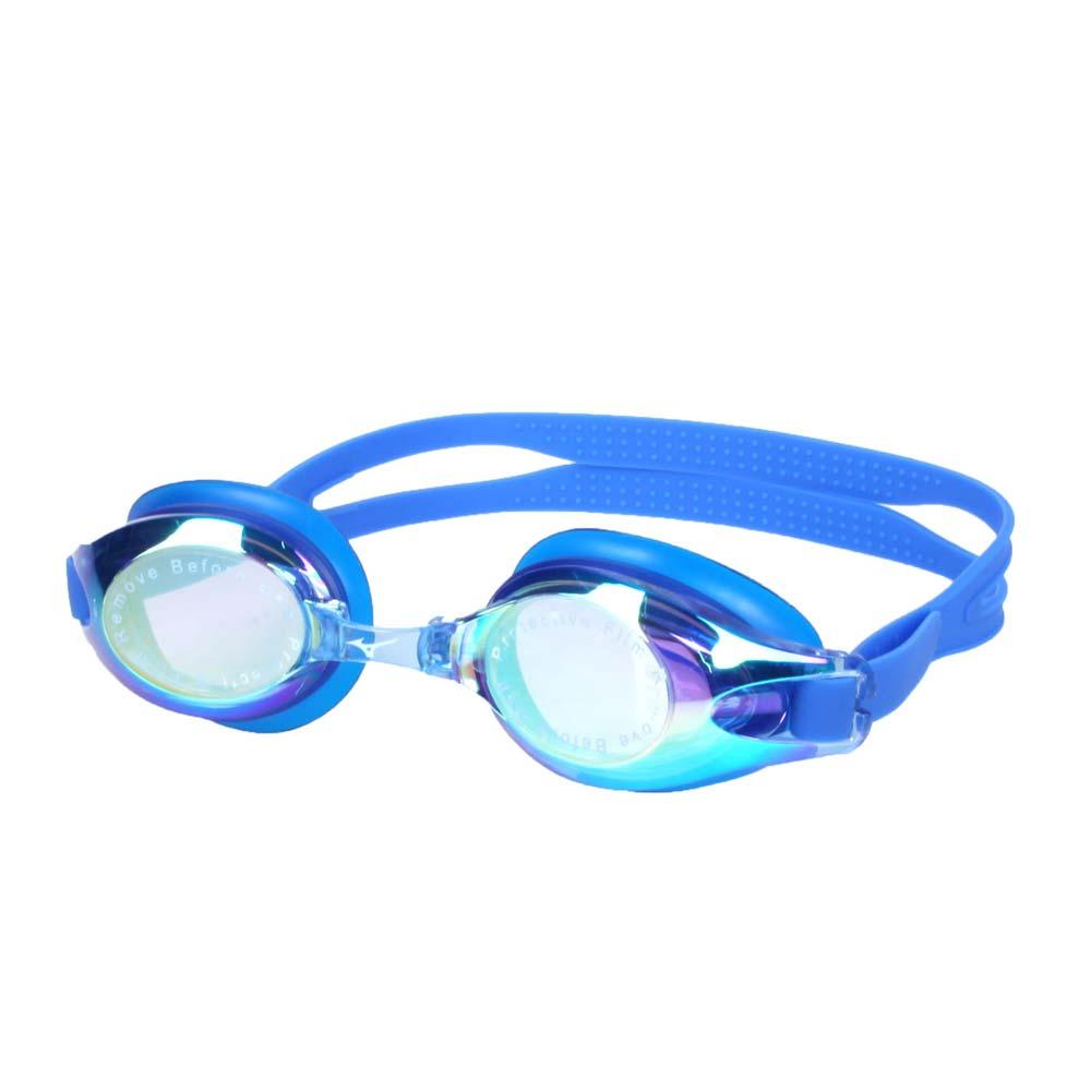 MIZUNO SWIM 泳鏡-蛙鏡 游泳 競賽 防務 抗UV 附可替換鼻橋 美津濃 藍 F