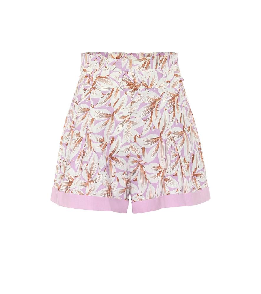 Lillan floral linen-blend shorts