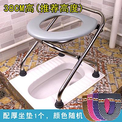 坐便椅老人可折疊孕婦坐便器凳子女家用蹲便改簡易移動馬桶座便椅 小宅君