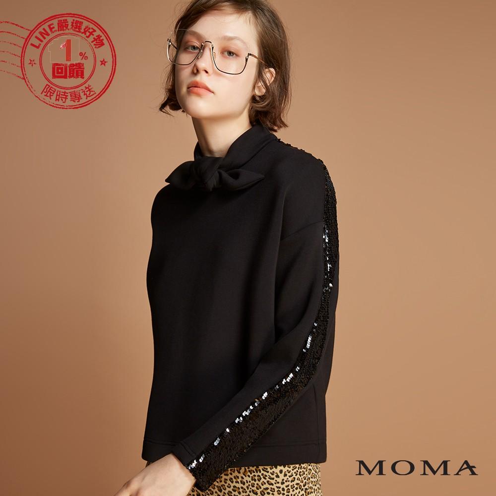 MOMA(92M010)蝴蝶結領邊上衣