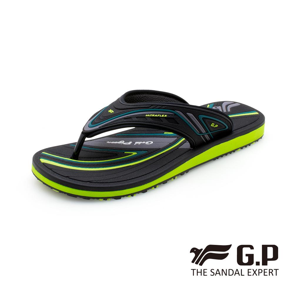 【G.P 】高彈性舒適夾腳拖鞋(G0575M-60)綠色(SIZE:40-44 共三色)