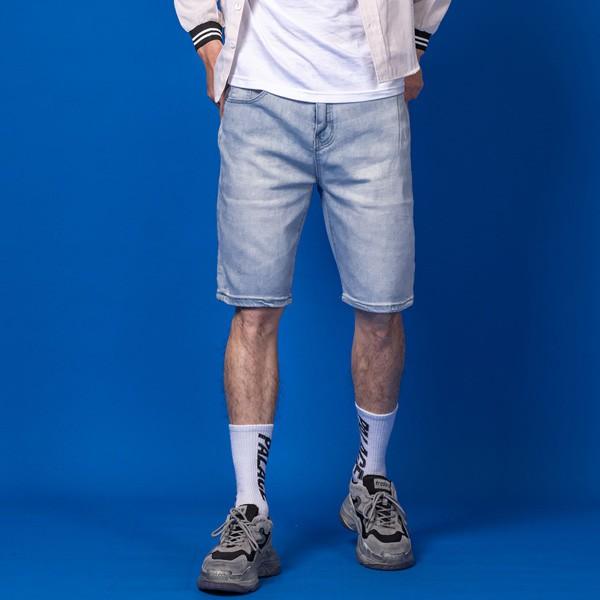 素色牛仔短褲【BS-K4182】(ROVOLETA)