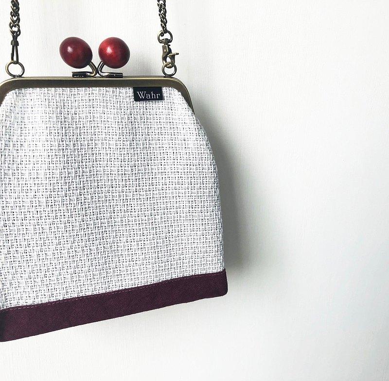 小紅編織 大木珠 口金包 手拿包 化妝包 肩背包 隨身包 斜背包